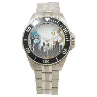Illustration d'un paysage urbain sale montres
