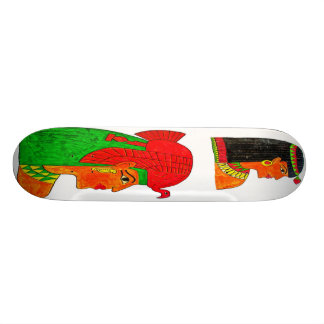 Illustration égyptienne de la Reine avec la coiffe Skateboard Old School 18,1 Cm