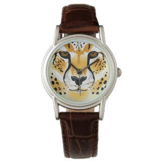 illustration en gros plan principale de guépard montres