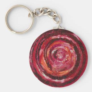 illustration en spirale rouge #2 de 1st-Root Porte-clé Rond