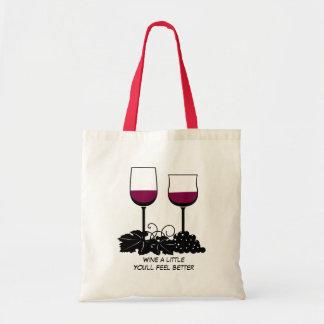 Illustration en verre de vin sac fourre-tout