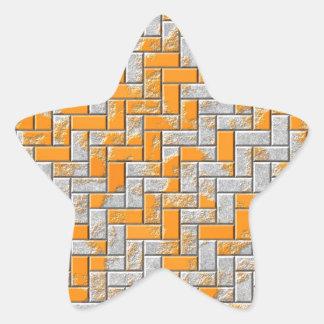 Illustration extérieure rouillée en métal sticker étoile