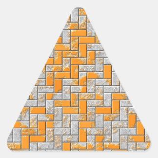 Illustration extérieure rouillée en métal sticker triangulaire