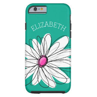 Illustration florale à la mode de marguerite - coque tough iPhone 6