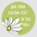 Illustration florale de marguerite à la mode - cha adhésifs