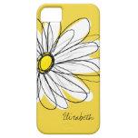 Illustration florale de marguerite à la mode - étui iPhone 5