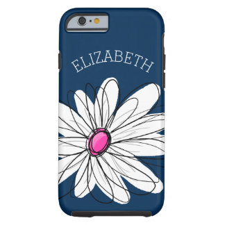 Illustration florale de marguerite à la mode - coque iPhone 6 tough