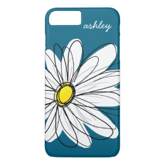 Illustration florale de marguerite à la mode - coque iPhone 7 plus