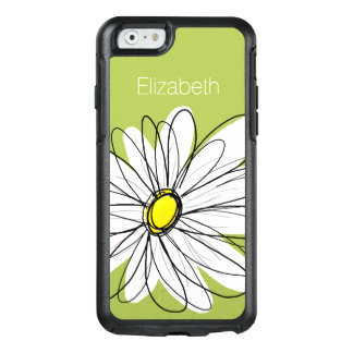 Illustration florale de marguerite à la mode - coque OtterBox iPhone 6/6s