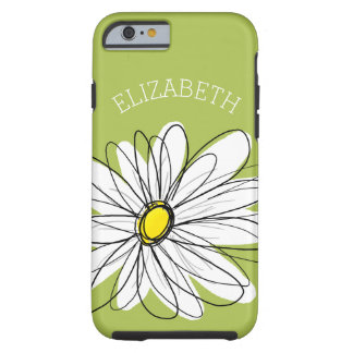Illustration florale de marguerite à la mode - coque tough iPhone 6