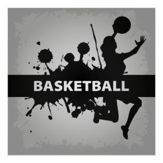 Illustration fraîche de basket-ball poster