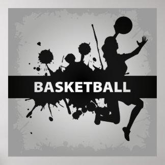 Illustration fraîche de basket-ball posters