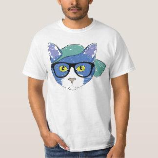 Illustration fraîche de chat t-shirt