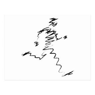 Illustration fraîche de coureur cartes postales
