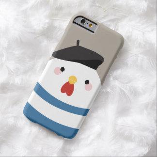 Illustration française mignonne de poule de Kawaii Coque iPhone 6 Barely There