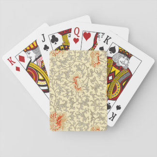 Illustration grise molle d'impression botanique de jeu de cartes