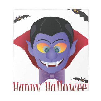 Illustration heureuse de Dracula de compte de Bloc-note