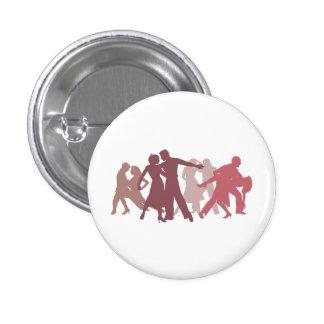 Illustration latine de danseurs badges avec agrafe