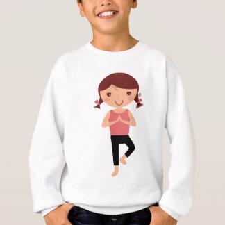Illustration mignonne d'asana de yoga de ressort sweatshirt