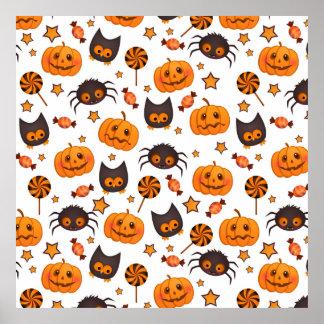 Illustration mignonne de motif de Halloween