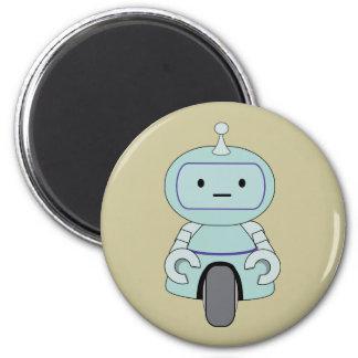Illustration mignonne de robot magnet rond 8 cm