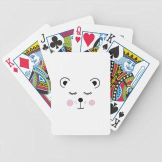 Illustration mignonne d'ours jeu de cartes