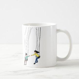 Illustration minimale des couples dans une mug