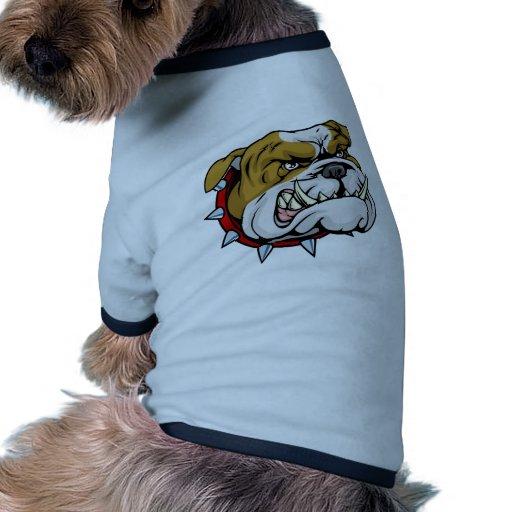 Illustration moyenne de mascotte de bouledogue tee-shirts pour animaux domestiques
