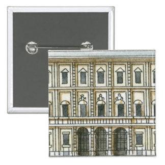 Illustration noire et blanche de façade de 18ème badges