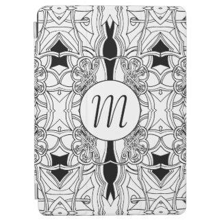Illustration noire et blanche moderne avec le protection iPad air