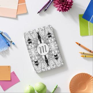 Illustration noire et blanche moderne avec le protection iPad mini