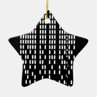 illustration ornement étoile en céramique