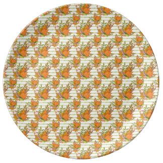 Illustration peinte à la main d'automne assiette en porcelaine
