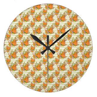 Illustration peinte à la main d'automne grande horloge ronde