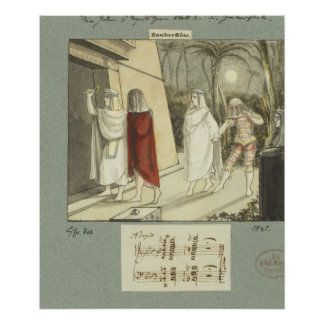 """Illustration pour la cannelure magique de Mozart """" Poster"""