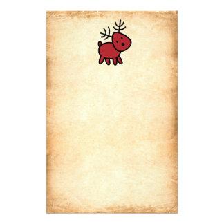 Illustration rouge de renne de Noël Papeterie