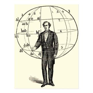 Illustration scientifique vintage de faire des carte postale