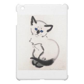 Illustration siamoise de chaton coques pour iPad mini
