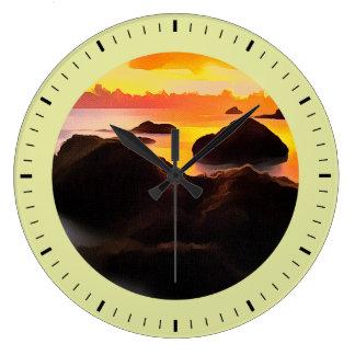 Illustration simulée de la peinture, grande horloge ronde