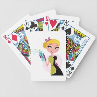 Illustration tirée par la main de femme de ménage jeu de cartes