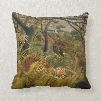 Illustration tropicale d'impression d'art de tigre oreiller