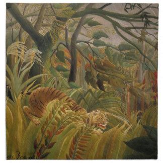 Illustration tropicale d'impression d'art de tigre serviettes en tissus