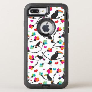 illustration tropicale d'oiseau mignon de toucan coque otterbox defender pour iPhone 7 plus