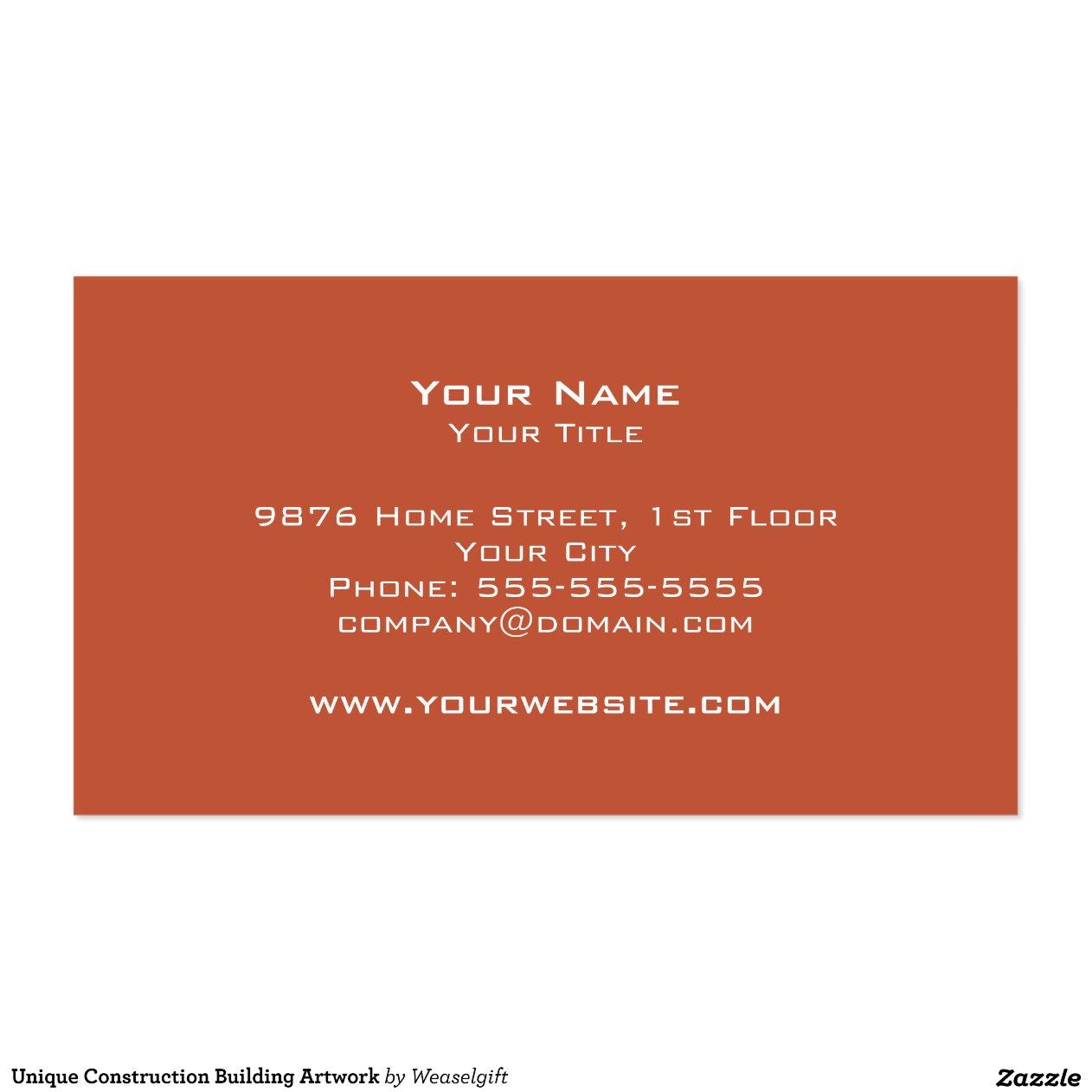 Illustration unique de b timent de construction carte de for Carte visite construction