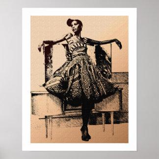 Illustration urbaine de mode poster