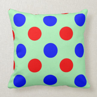 Illustration vert-bleu et rouge de vecteur de coussins carrés