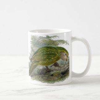 Illustration verte de cru de perroquet de Kakapo Mug