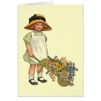 Illustration victorienne d'enfant d'ère cartes de vœux