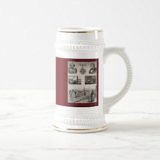 Illustration vintage - commémorative, chope à bière