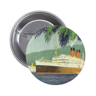 Illustration vintage de bateau de croisière badge